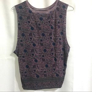 American Eagle Outfitters Tops - American Eagle- Soft & Sexy Purple Floral Tank (M)